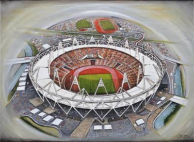 Olympic Stadium Art Print by D J Rogers