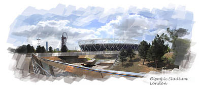 Stratford Digital Art - Olympic Stadium London by Roger Lighterness