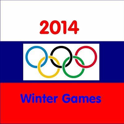 Digital Art - Olympic Symbol  Russian Flag by Florene Welebny