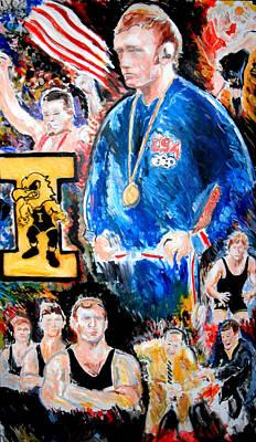 Painting - Olympic Wrestling Must Stay by Jon Baldwin  Art