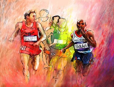 2012 Mixed Media - Olympics 10000m Run 01 by Miki De Goodaboom
