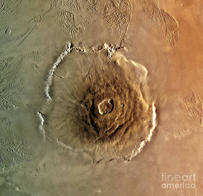 Photograph - Olympus Mons Mars by Science Source