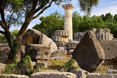 Zeus Photograph - Olympus Ruins by Brian Jannsen