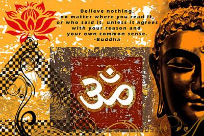 Digital Art - Om - Buddha by RSRLive Arts