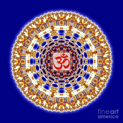 Concentration Digital Art - Om Chakra by M Rao