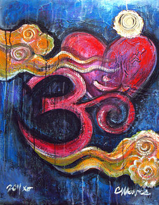 Painting - Om Heart Of Kindness by Laurie Maves ART
