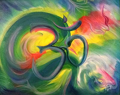 Oneness Painting - Om by Jennifer Rose Hill