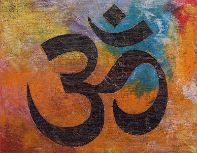 Hindu Painting - Om by Michael Creese
