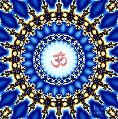 Concentration Digital Art - Om Namaha Fractalaya Fractalaya Namaha Om by M Rao
