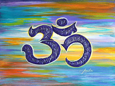 Om Purple Art Print