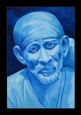Of Sai Baba Painting - Om Sai by Chandrashekhar Kadam