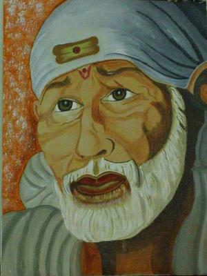 Shirdi Sai Baba Painting - Om Sai Ram by Bharathi Satya
