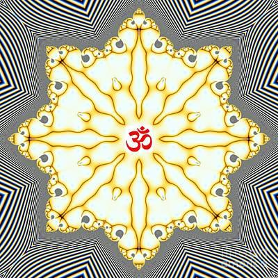 Hindu Goddess Digital Art - Om Series - 42 by M Rao