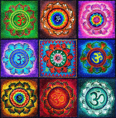 Flower Design Digital Art - Om Squared by Tim Gainey