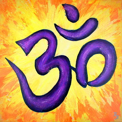 Painting - Om Symbol Art Painting by Bob Baker