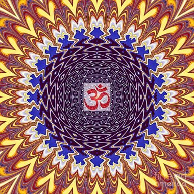 Hindu Goddess Digital Art - Om Twisted Ripples by M Rao