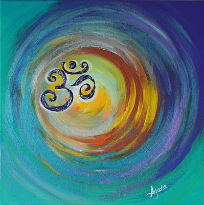 Painting - Om Vortex by Agata Lindquist