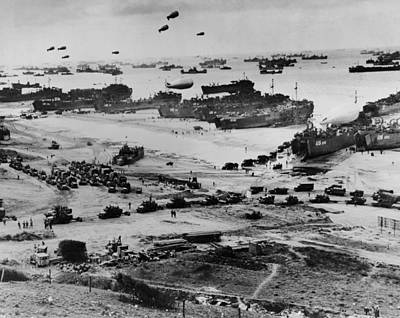 Bsloc Photograph - Omaha Beach After D-day. Protected by Everett