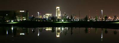 Omaha Skyline Reflection Art Print
