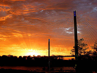 Photograph - Omaha Sunrise by Jeff Lowe