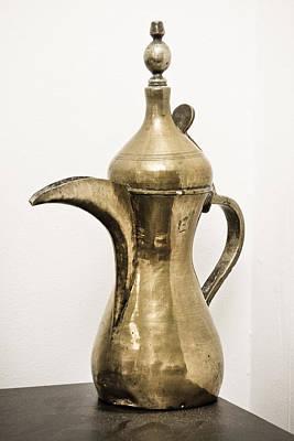 Old Jugs Photograph - Omani Coffee Pot by Tom Gowanlock