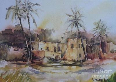 Painting - Omani House by Donna Acheson-Juillet