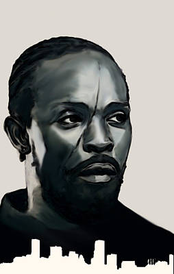 Painting - Omar Little by Jeff DOttavio