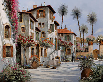 Shadow Wall Art - Painting - Ombre Al Pomeriggio by Guido Borelli