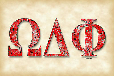 Latino Digital Art - Omega Delta Phi - Parchment by Stephen Younts