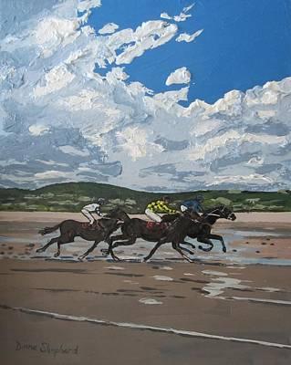 Omey Horse Races Cladaghduff Connemara Ireland Art Print by Diana Shephard