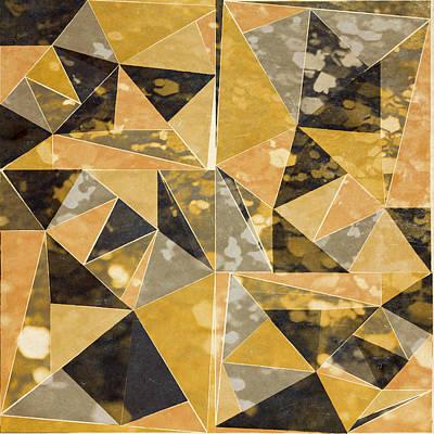 Omg Gold Triangles I Art Print