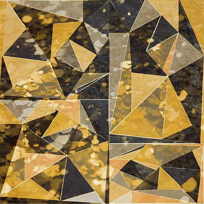Modern Art Digital Art - Omg Modern Triangles II by south Social Studio
