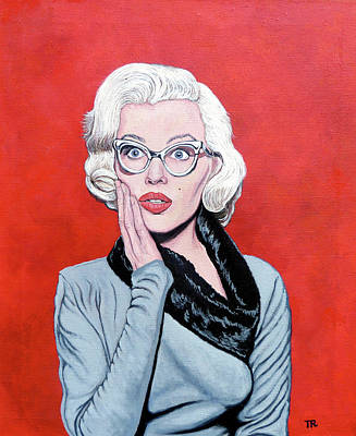Marilyn Painting - OMG by Tom Roderick