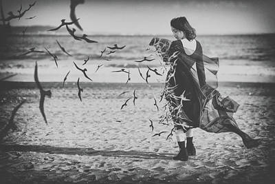Sea Birds Photograph - Ominous Call Death by Daisuke Kiyota