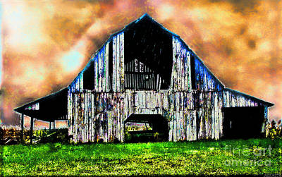 Photograph - Ominous Sky Barn Photoart by Debbie Portwood