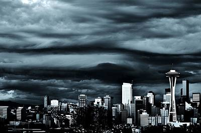 Photograph - Ominous Skyline by Benjamin Yeager