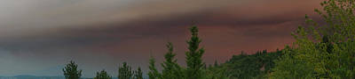 Photograph - Ominous Smoke Cloud Covers The Rogue Valley by Mick Anderson