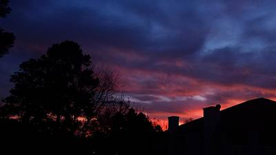 Photograph - Ominous Sunset by Kenny Glover