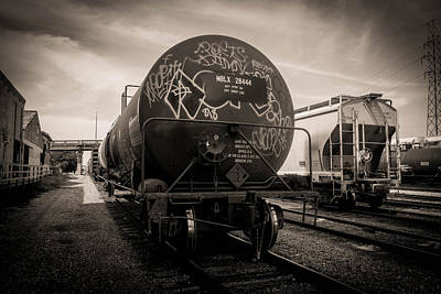 Photograph - Ominous Train Under Dark Skies In New Orleans by Louis Maistros