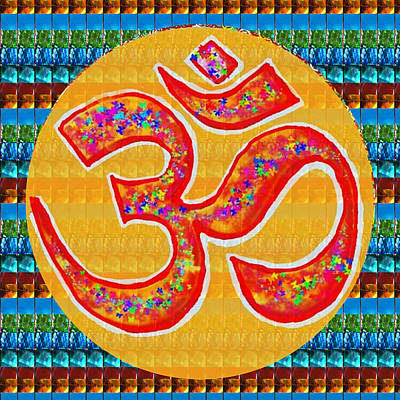 Ommantra Om Mantra Chant Yoga Meditation Spiritual Religion Sound  Navinjoshi  Rights Managed Images Art Print