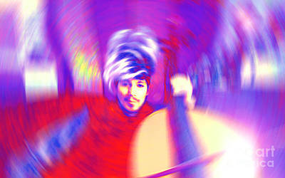 Musicians Royalty Free Images - OmNEtra MoveOnArt MoveOnMusic Artist Musician Jacob Kane Kanduch 2014 Royalty-Free Image by Jacob Kanduch