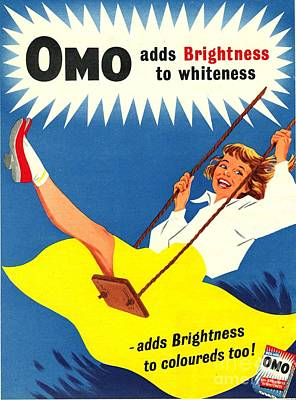 Omo 1950s Uk Washing Powder Products Art Print by The Advertising Archives