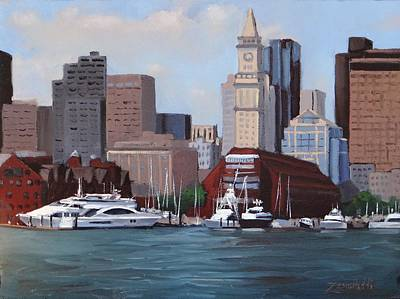 Massachusetts Painting - On A Clear Day by Laura Lee Zanghetti