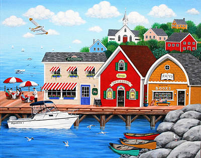 Folk Art Painting - On A Clear Day by Wilfrido Limvalencia