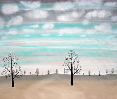 Treescape Painting - On A Cloudy Day by Sumit Mehndiratta