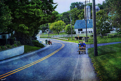Amish Country Photograph - On A Country Road - Lancaster - Pennsylvania by Madeline Ellis