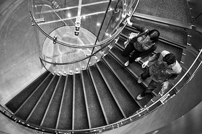 Photograph - On A Downward Spiral by Cornelis Verwaal