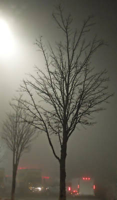 On A Foggy Night Art Print