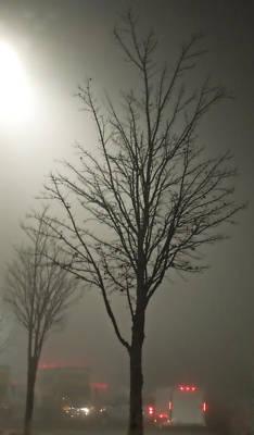 On A Foggy Night Art Print by Pete Trenholm