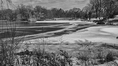 Photograph - On A Frozen Lake by Cornelis Verwaal